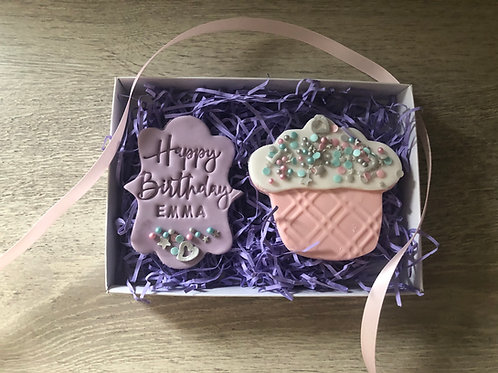 Yummy as a Cupcake Biscuit Gift Set