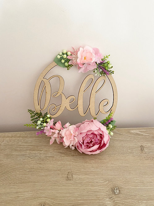Pretty Pinks Floral Hoop