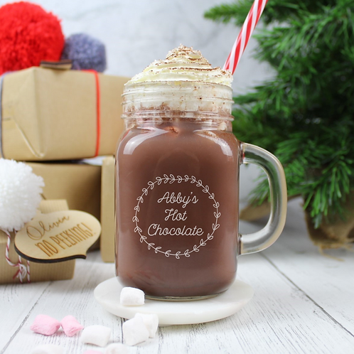 Hot Chocolate Personalised Mason Jar