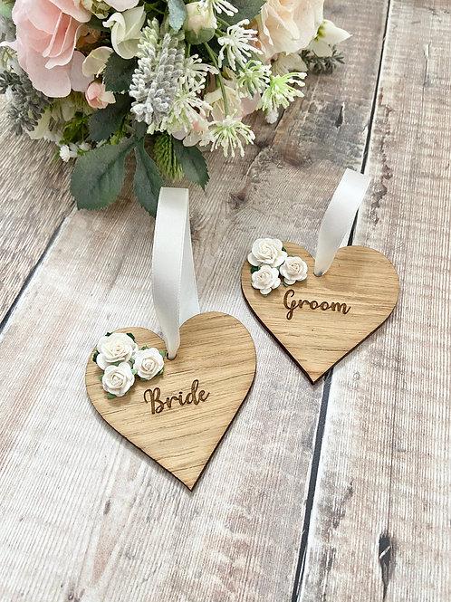 Oak Wedding Place Settings