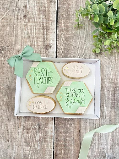 Pastel Green Teacher Appreciation Biscuit Set