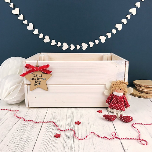 Wooden Christmas Eve Crate