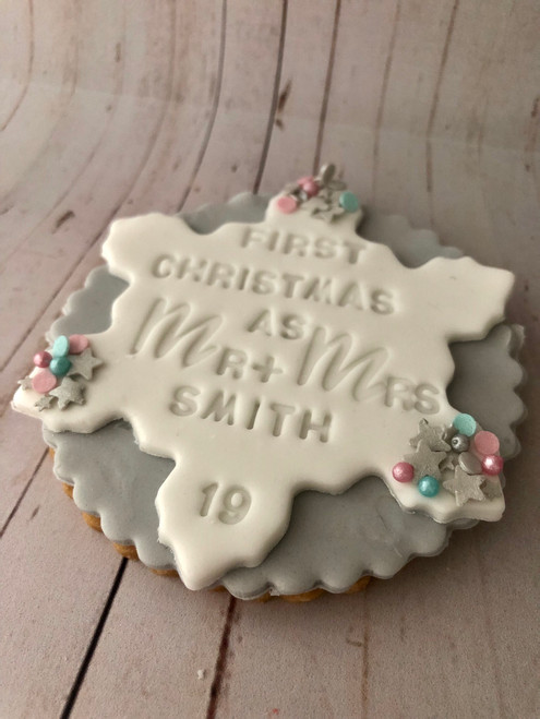 First Christmas Biscuit