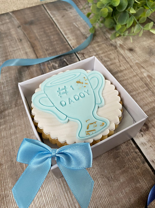 Trophy Personalised Boxed Biscuit