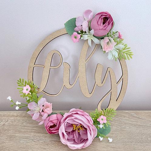 The Pinks & Purples Floral Hoop