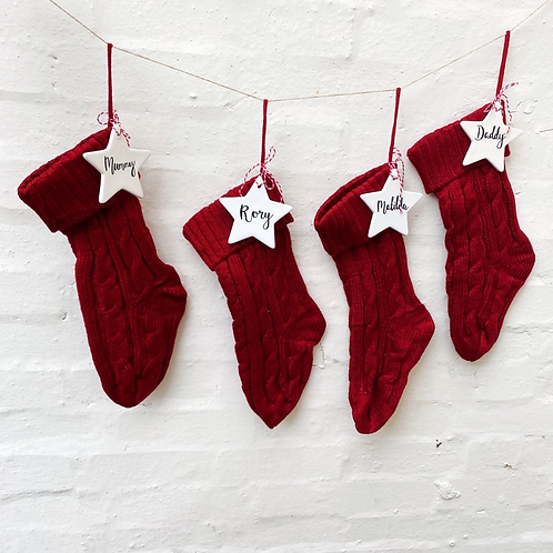 Knitted Personalised Christmas Stocking