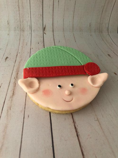 Elf Personalised Cookie
