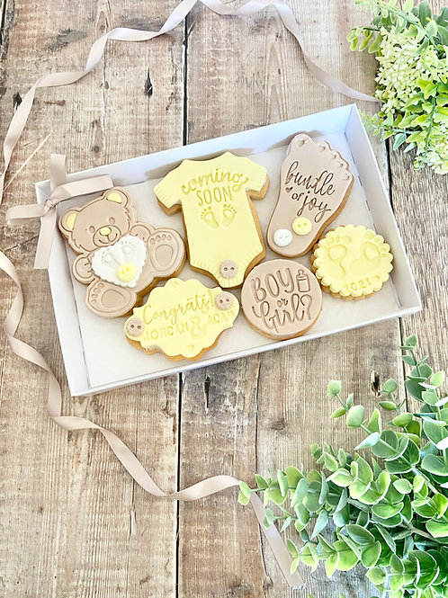 Baby... Coming Soon Biscuits Gift Set