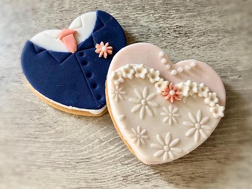Bride & Groom Biscuits