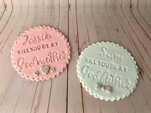 Godparent Proposal Biscuits