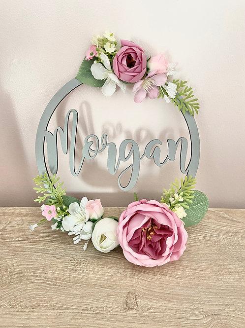 Painted Floral Hoop