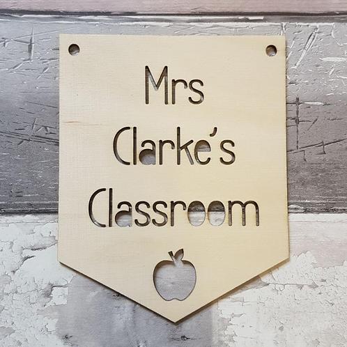 Teacher's Classroom Sign Flag