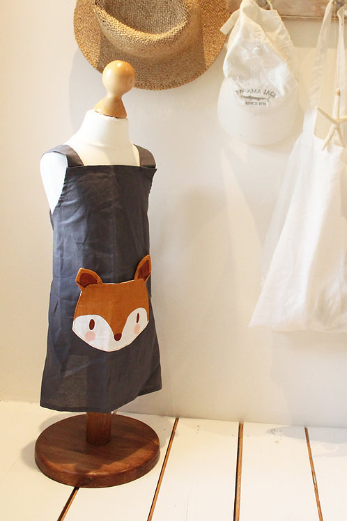 Fox Linen Pocket Apron