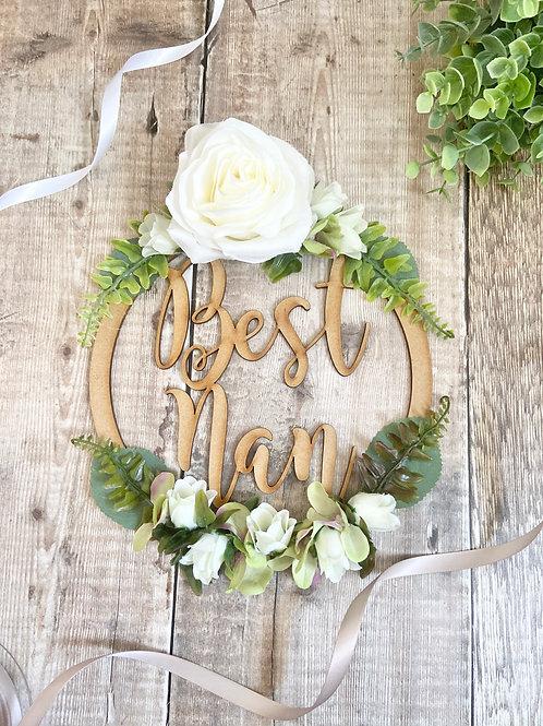 Best Nan Floral Hoop