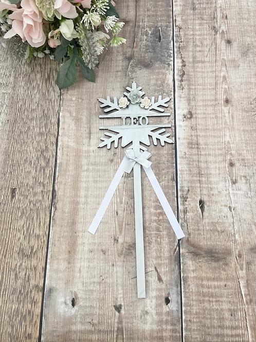 Winter Wonderland - Icy Blue Snowflake Wands