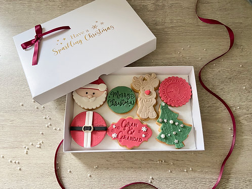 Large 'Tis The Season' Cookie Gift Box