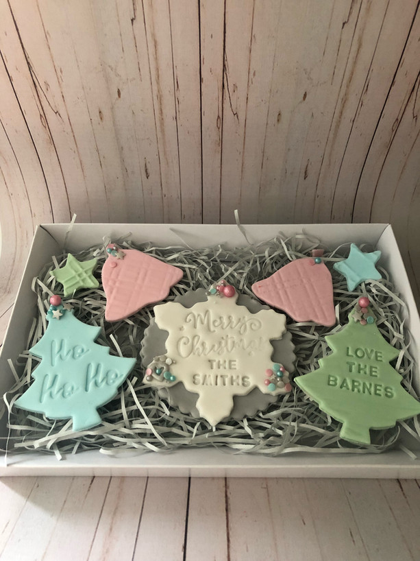 Pastel Merry Christmas At.... Biscuit Gift Set