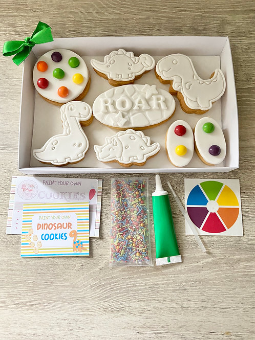 Dinosaur Paint Your Own Cookie Kit