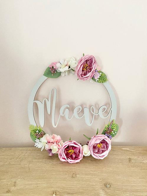EXTRA LARGE Floral Hoop