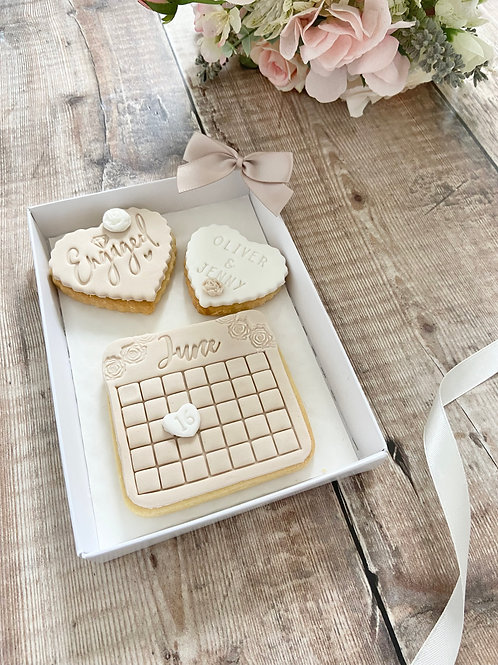 Engagement Heart Biscuit Gift Set