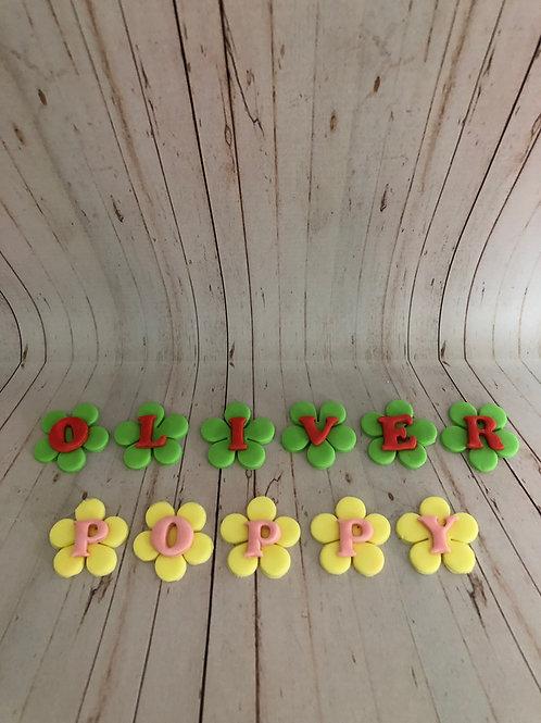 Floral Fondant Letters