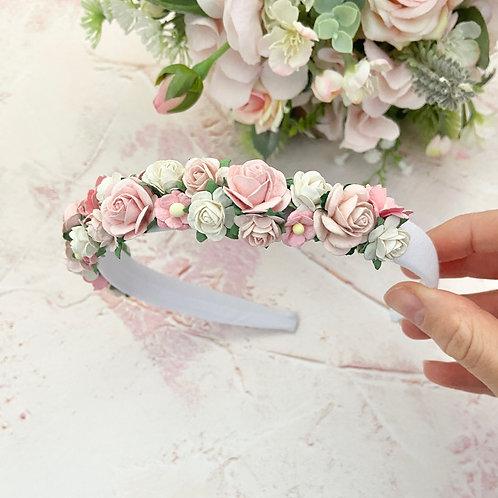 Blush Pinks Mulberry Flower Headband