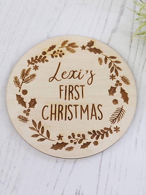 First Christmas Engraved Plaque
