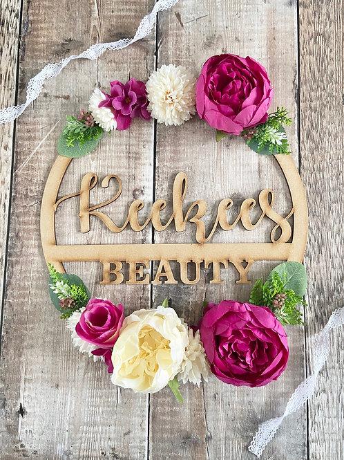 Business Signage Floral Hoop