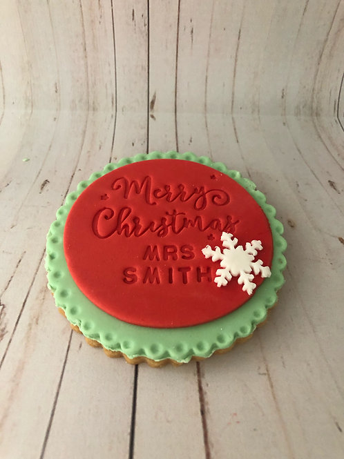 Thank You Teacher Christmas Cookie