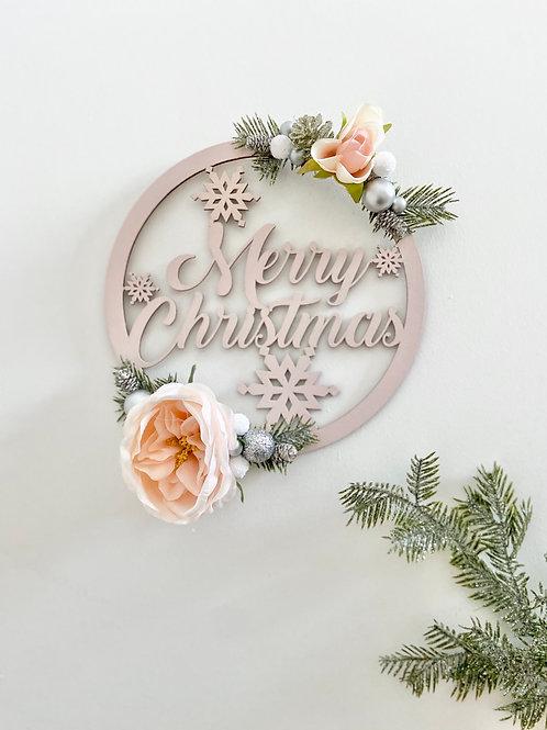 Merry Christmas Pink Hoop