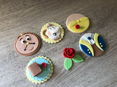 Beauty & The Beast Cupcake Toppers