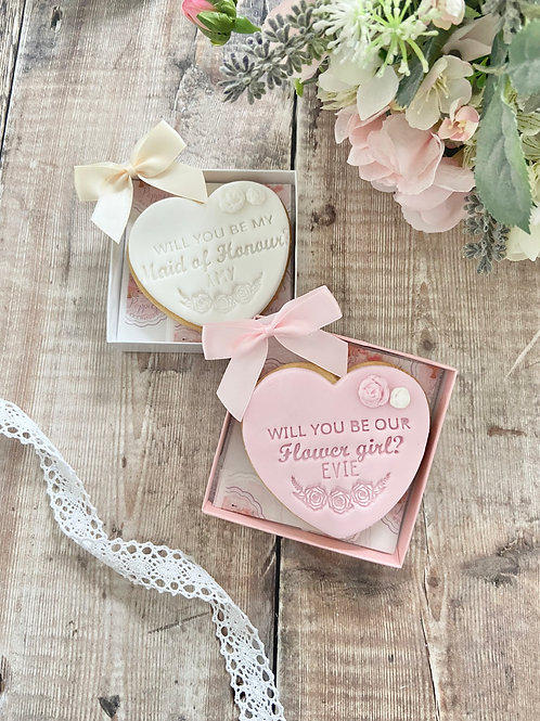Bridal Party Proposal Individual Biscuits