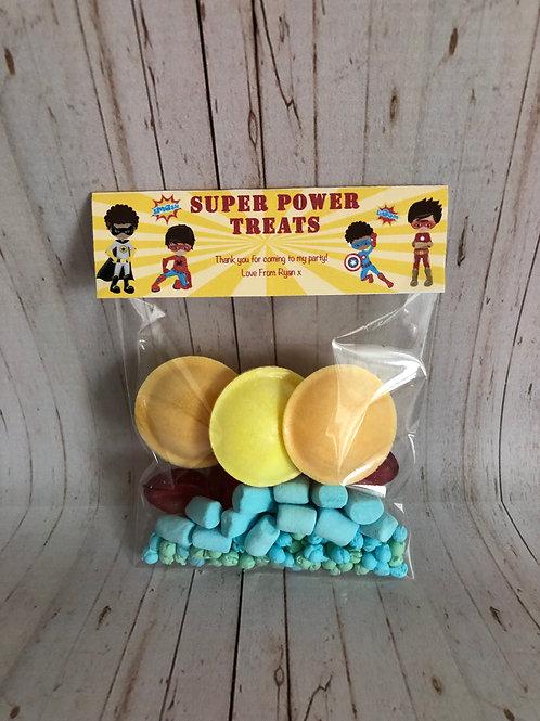 Super Hero Super Power Treats Bag