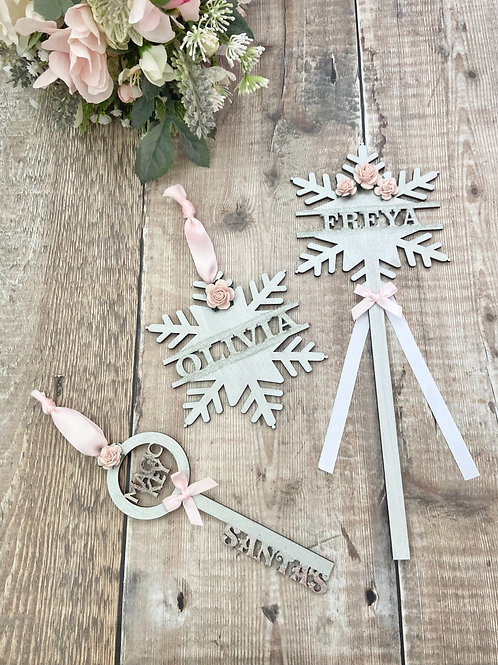 Winter Wonderland - Blush Snowflake Bundle