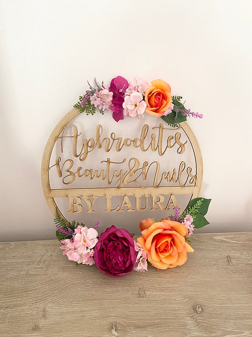 EXTRA LARGE Business Floral Hoop