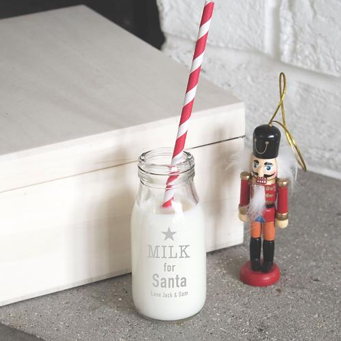 Mini Milk for Santa Bottle