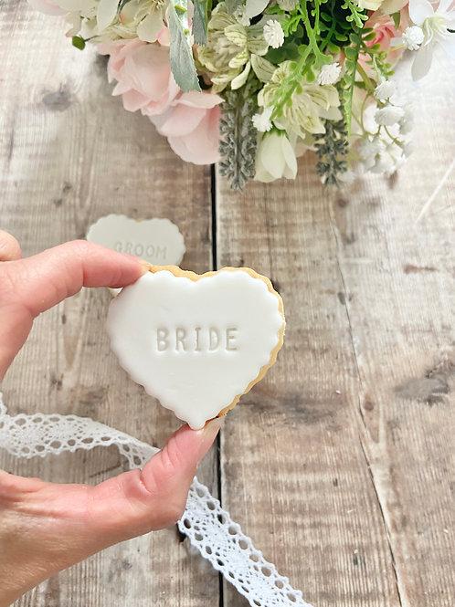 Mini Scallop Heart Wedding Biscuits