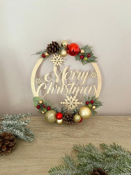 Merry Christmas Bauble Hoop