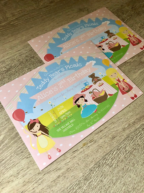 Teddy Bears Picnic Party Invitations