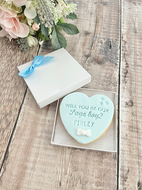 Page Boy Proposal Biscuits