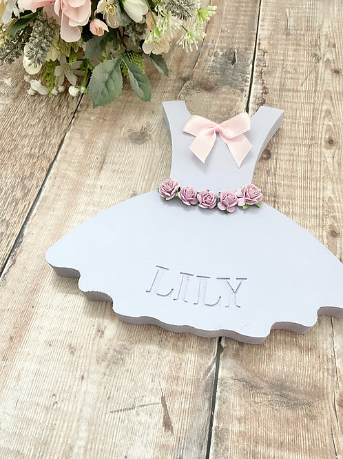Engraved Personalised Standing Dress