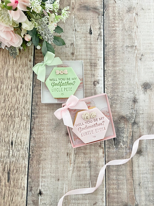 Godparent Proposal Individual Boxed Biscuit