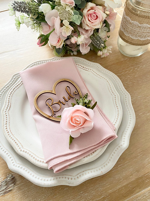 Rose Floral MDF Place Settings