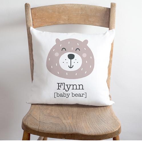 Personalised Baby Bear Cushion