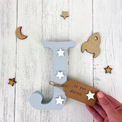 Wooden Grey Freestanding Letter