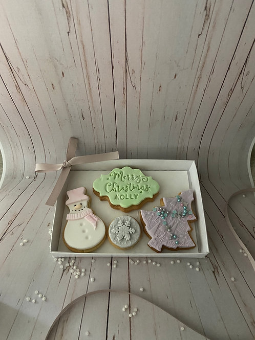 'Let It Snow' Christmas Cookie Box