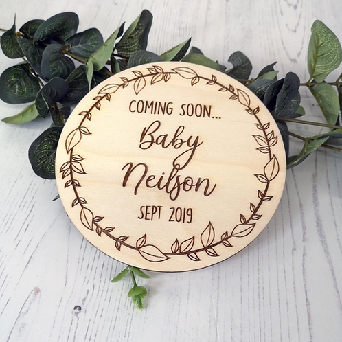 Baby Announcement Engraved Plaque