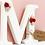 Thumbnail: Wooden Floral Rose Freestanding Letter