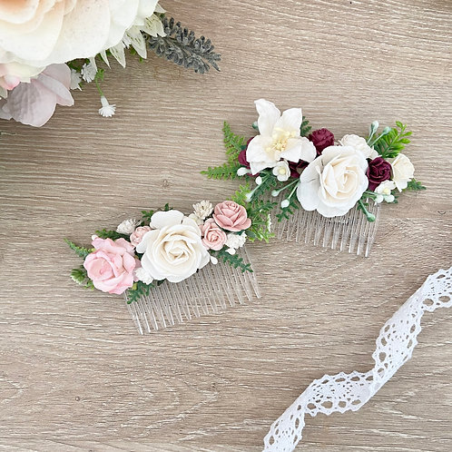 Mulberry Flower Hair Comb