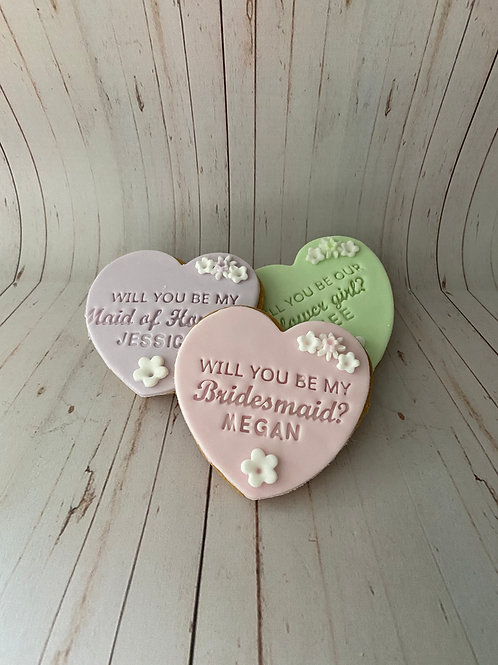 Bridal Party Proposal Biscuits
